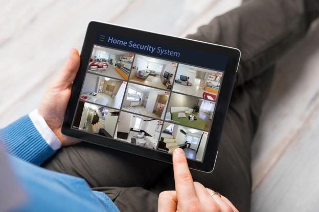 Security CCTV watching on Tablet